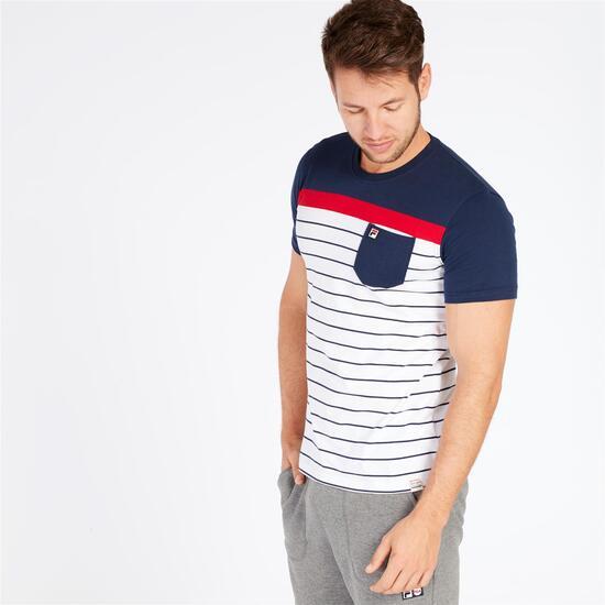 FILA DEGRAVES Camiseta Marino Blanco Hombre