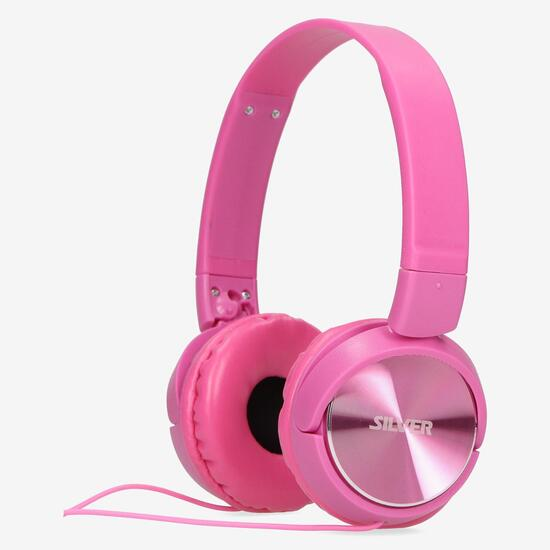 Auriculares SILVER Plegables Rosa