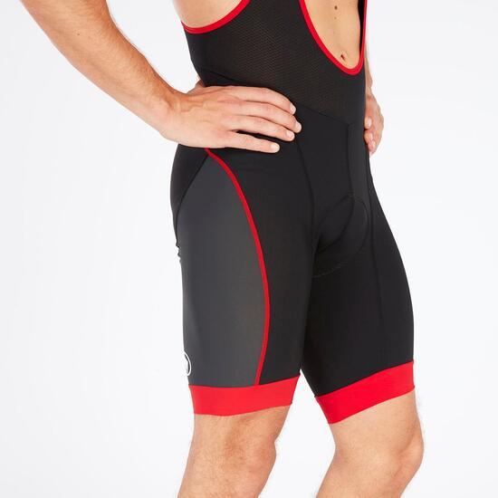 Culotte Corto Ciclismo Negro Rojo Hombre Endura