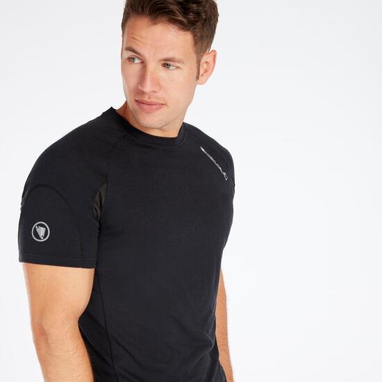 Camiseta Ciclismo Negra Hombre Endura