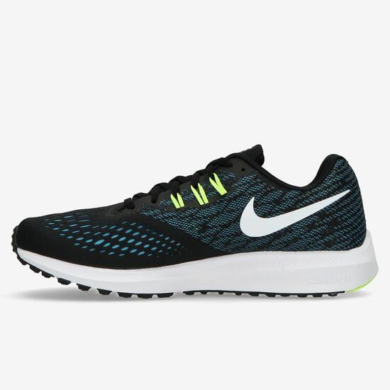 Zapatillas Running Nike Zoom Winflo Negras Hombre