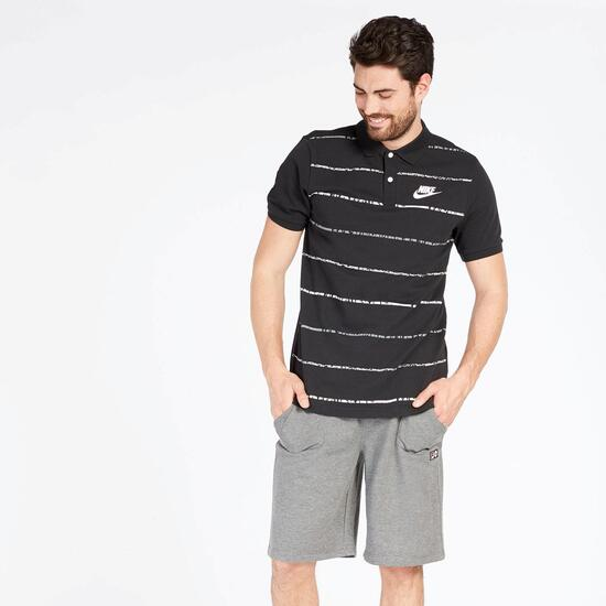 Polo Rayas Nike Piqué Negro