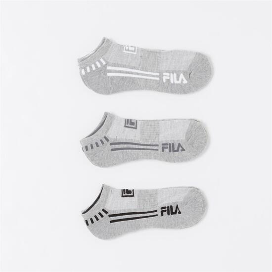 FILA Pack 3 Calcetines Invisibles Gris Niño