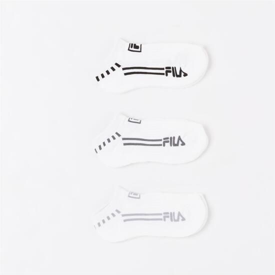 FILA Pack 3 Calcetines Invisibles Blanco Niño