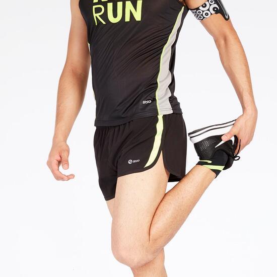 Pantalón Corto Running Negro Hombre Ipso Combi