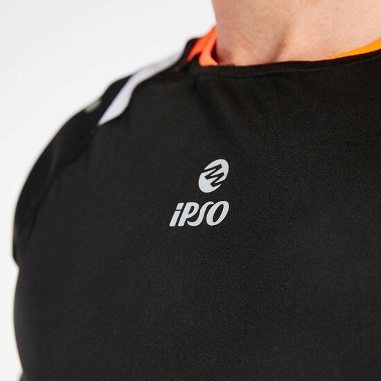 Camiseta Negra Naranja Hombre Ipso Reflective