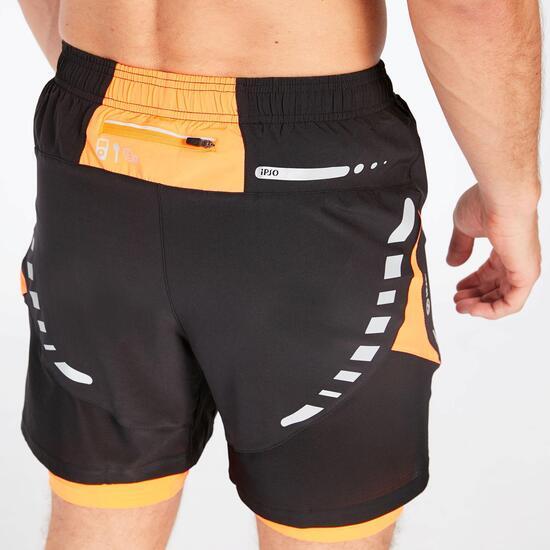 Pantalón Corto Negro Naranja Hombre Ipso Reflective
