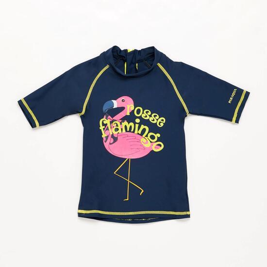 Camiseta Natación Niña Paraqua Marino Lima