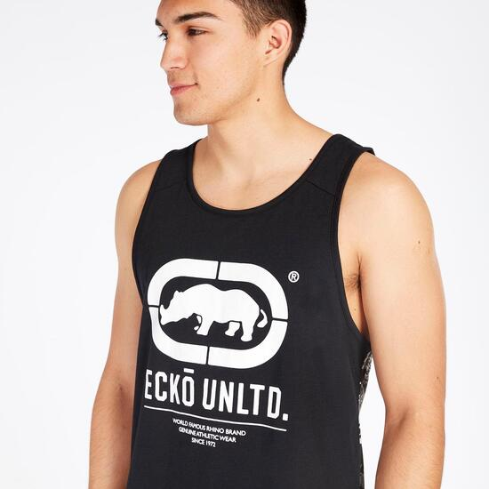 Camiseta Tirantes Ecko Negra Hombre
