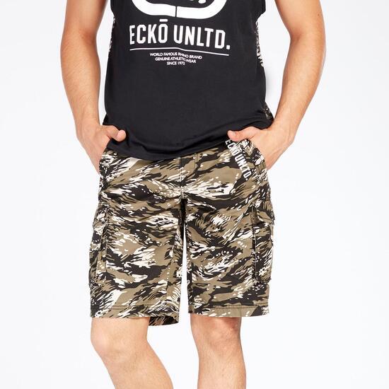 Bermuda Cargo Camuflaje Ecko Kaki Hombre