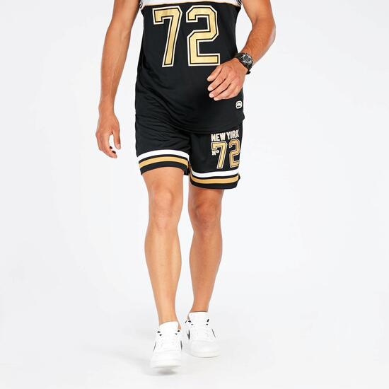 Pantalón Corto Negro Oro Hombre Ecko Rutgers