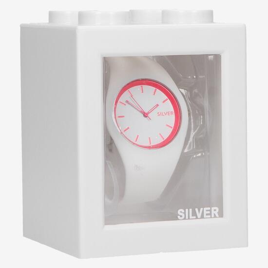 Reloj Silver Blanco Rosa Mujer