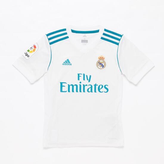 Camiseta Real Madrid Niño adidas Blanca