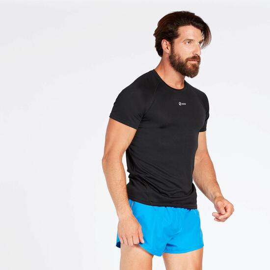 Camiseta Running Negro Hombre Ipso
