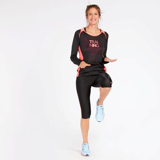 Camiseta Running Negra Ipso Combi