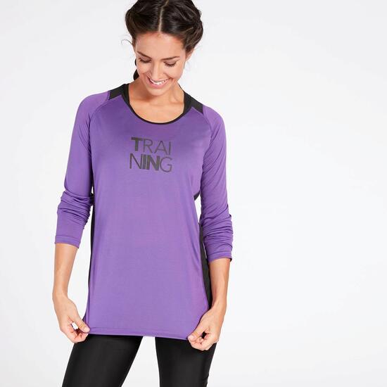 Camiseta Running Morada Ipso Combi