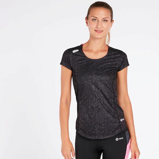 Camiseta Running Negro Mujer Ipo Experience