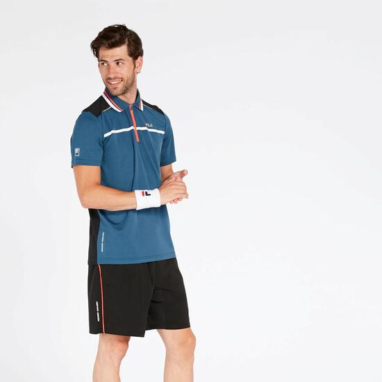Polo Tenis Azul Fila