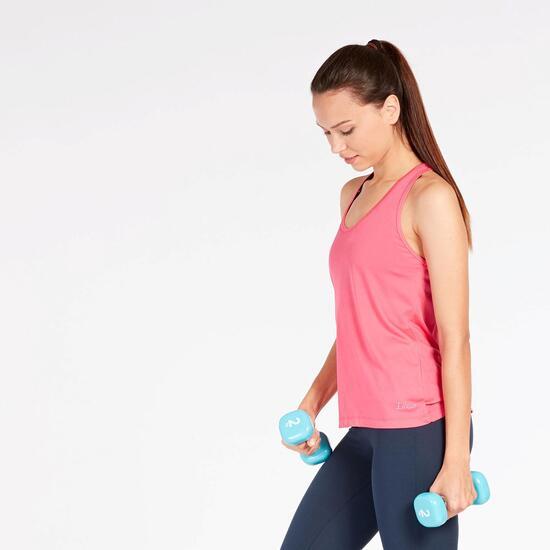 Camiseta Tirantes Rosa Mujer Ilico Basic