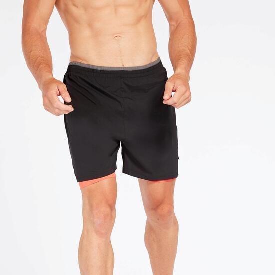 Pantalón Running & Malla Negro Fila