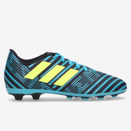 02d0ef7e64fcd Bota Fútbol adidas Nemeziz 17.4 Messi Niño (36-38.5) - AZUL