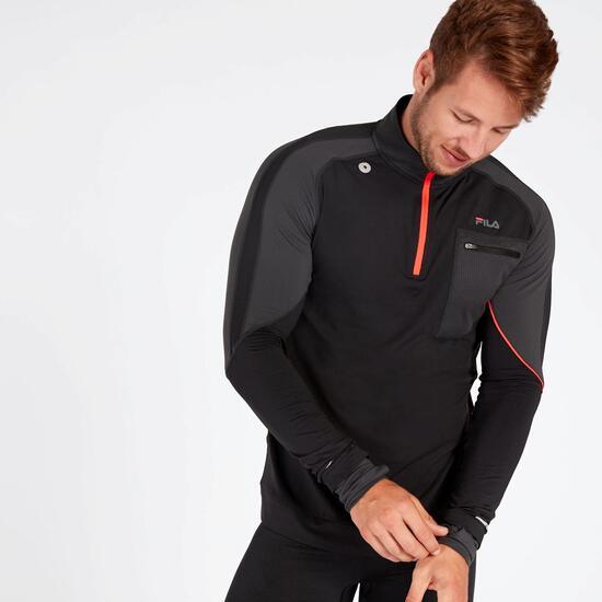 Camiseta Running Térmica Fila Performance Negra