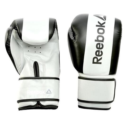 REEBOK Guantes Boxeo Negro Blanco