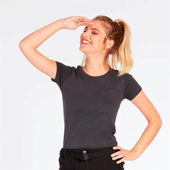 Camiseta Montaña Gris Mujer Boriken