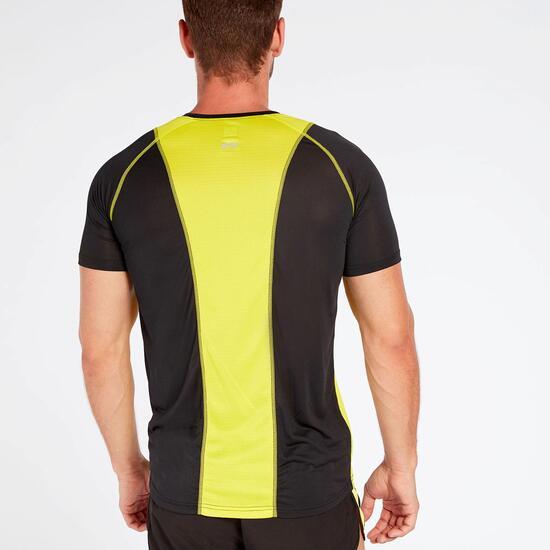 Camiseta Running Negra Hombre Ipso Combi