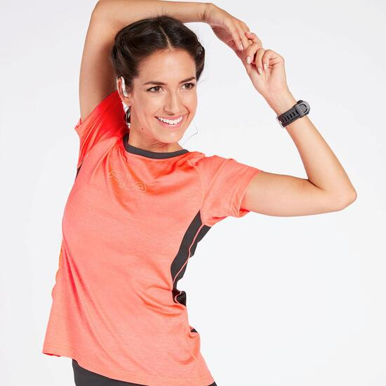 Camiseta Running Coral Mujer Fila Performance