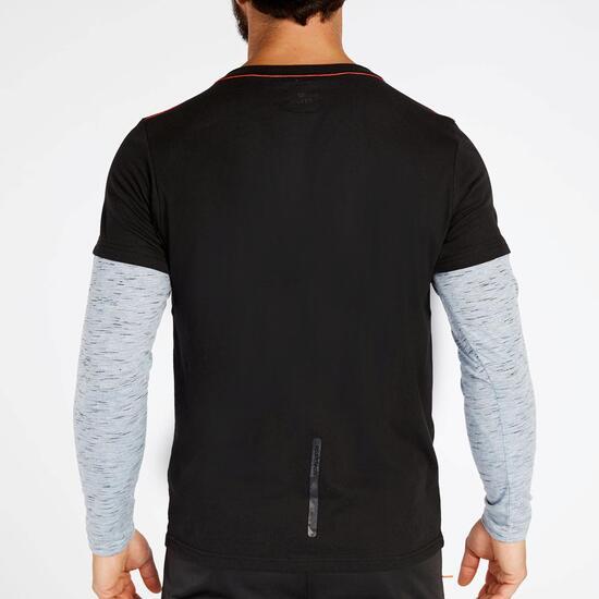 Camiseta doble manga Negra Silver