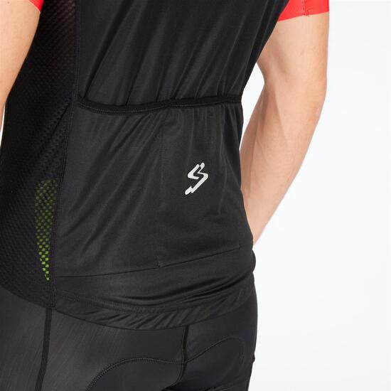 SPIUK Maillot Ciclismo Negro Rojo Hombre