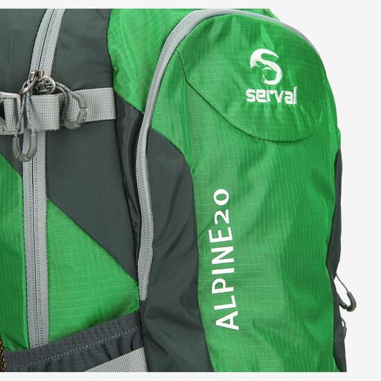 Mochila Montaña SERVAL ALPINE 20 Verde