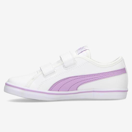 Zapatillas Puma Elsu Velcro Blancas Niña (28-35)