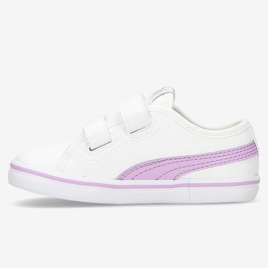 Zapatillas Puma Elsu Velcro Blancas Niña (20-27)