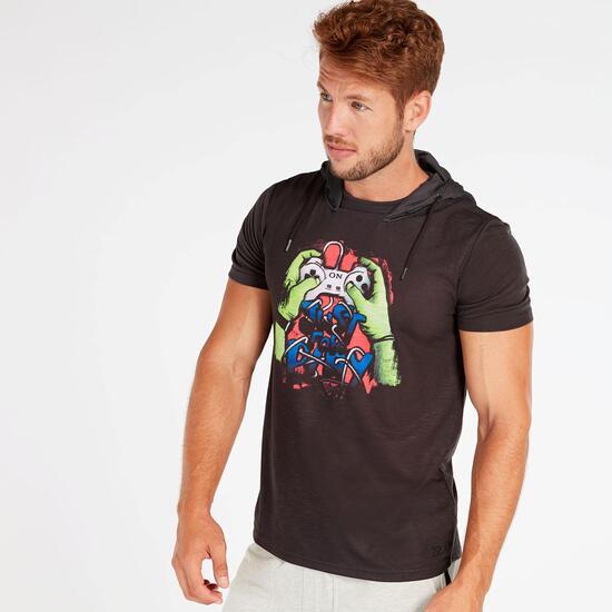 Camiseta Capucha Hombre Silver