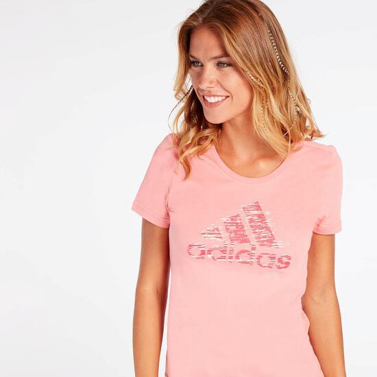 Camiseta adidas Roja Mujer