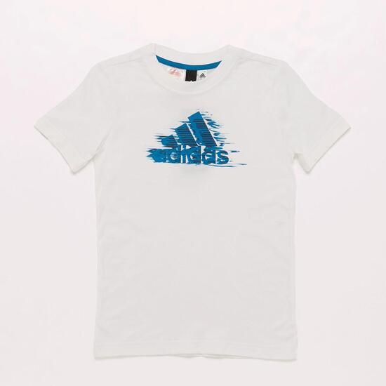 Camiseta adidas Blanco Niño (10 16)