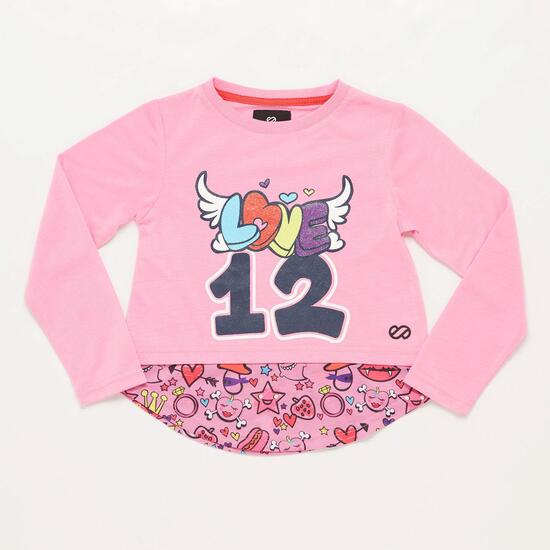 Camiseta Manga Larga Rosa Silver Play In Niña (2-8)