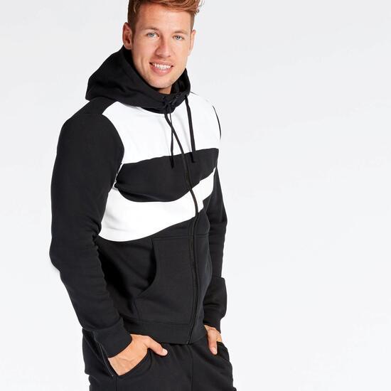 Sudadera Nike Negra Blanca