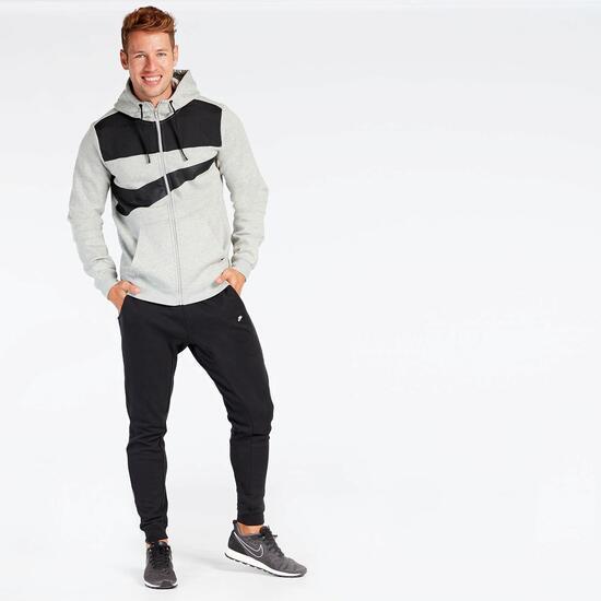 Sudadera Nike Gris Negra