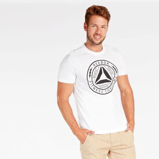 Camiseta Reebok Blanca Hombre