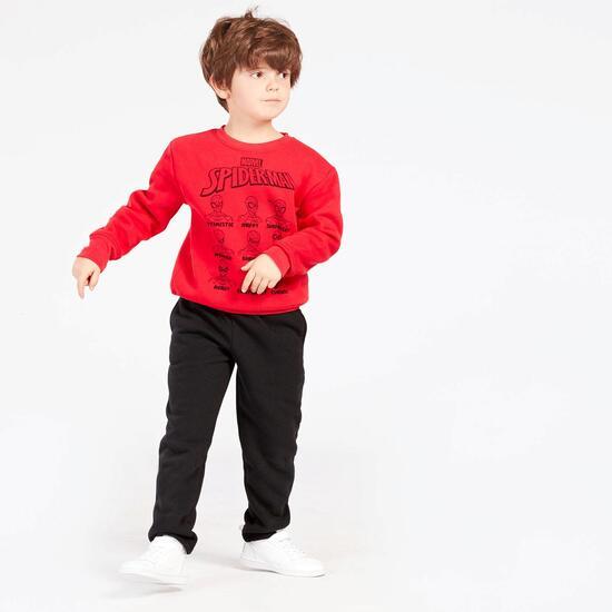 Chandal Spiderman Rojo Negro Niño (2-8)