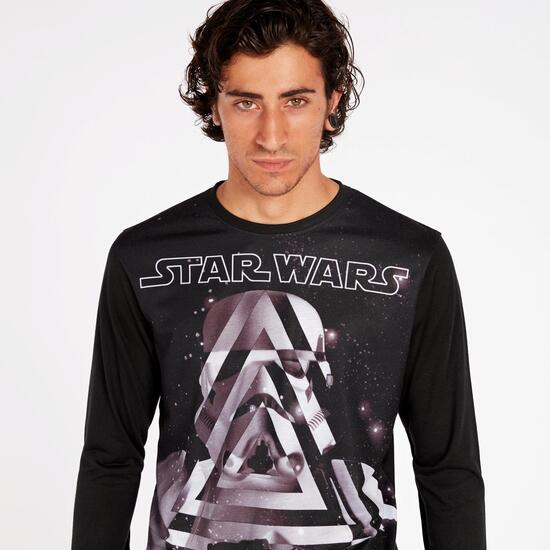 Camiseta Star Wars Negra Hombre