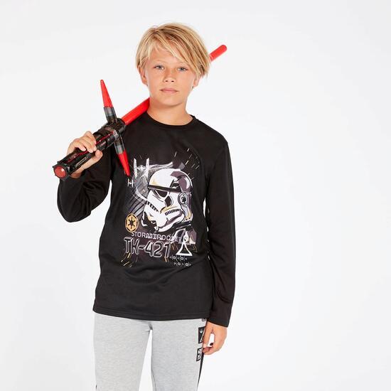 Camiseta Star Wars Negra Niño (10-16)