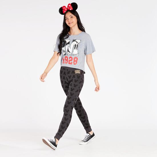 Leggins Mickey Gris Oscuro Mujer