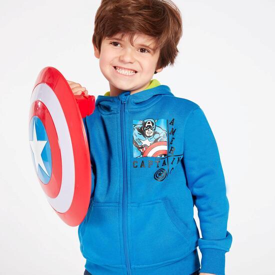 Sudadera Capitán América Azul Niño (2-8)