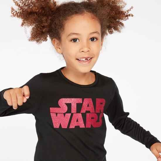 Camiseta Star Wars Negra Niña (2-8)