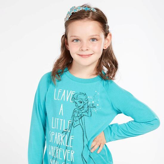 Camiseta Elsa Turquesa Niña (2-8)