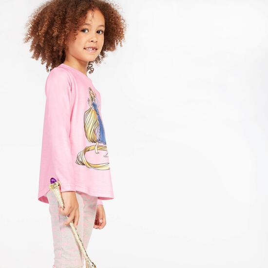 Camiseta Rapunzel Rosa Niña (2-8)